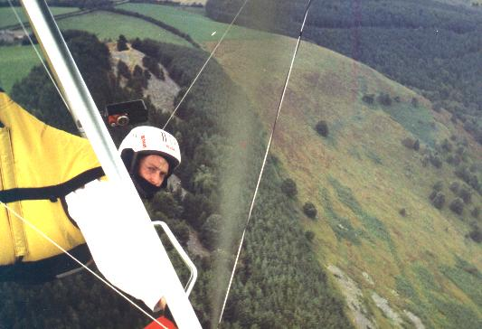Flying at Langgollen in North Wales