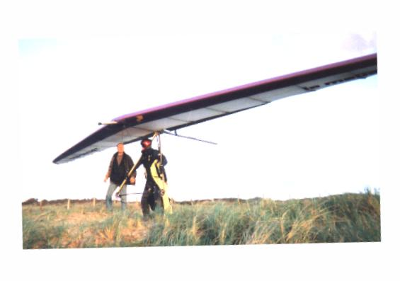 Rob v d Leeden about to launch on my glider