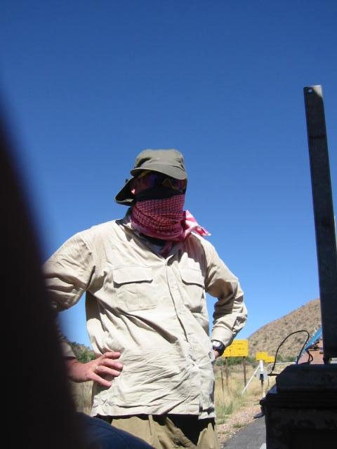 dave kinlan - looking like some sort of terrorist!