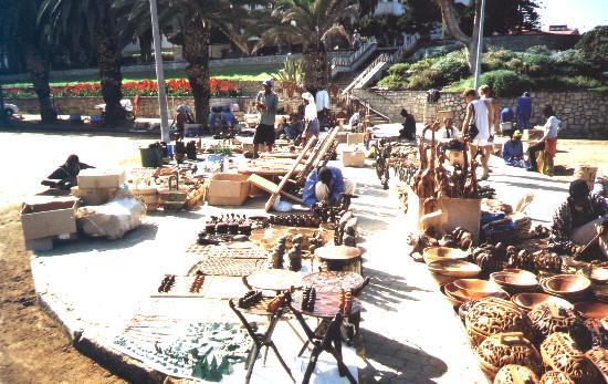 market stalls in Swapkopmund